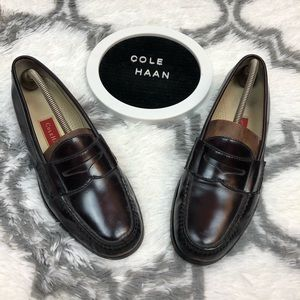 Cole Haan Burgundy Penny Loafers 10.5 M